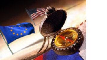 Российский компас указывает на запад picture
