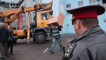 Подготовка к сносу пристройки к усадьбе на Таганской площади