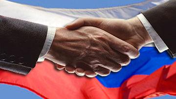 россия партнер рукопожатие
