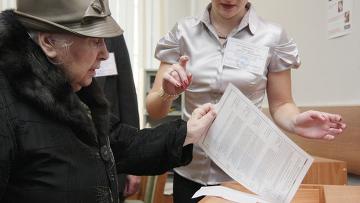 Во время голосования на одном из избирательных участков Москвы