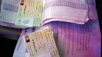 Фальшивые удостоверения выборщиков в Афганистане
