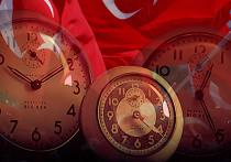турецкий флаг часы