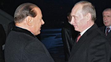 Встреча Владимира Путина с Сильвио Берлускони