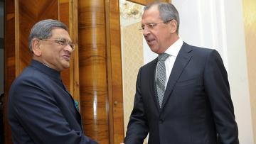 Встреча С.Лаврова и С. М.Кришны в Москве