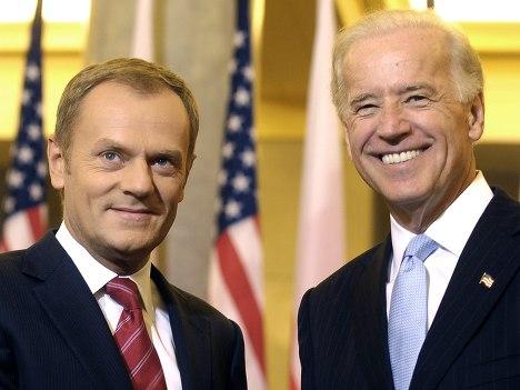 Вице-президент США Джозеф Байден и премьер министр Польши Дональд Туск