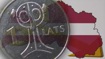 Латвия флаг монета девальвация