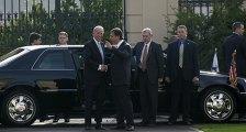 Премьер министр Чехии Ян Фишер встречает вице-президента США Джозефа Байдена в Праге