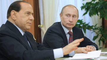 В.Путин и С.Берлускони встретились с главами российских компаний