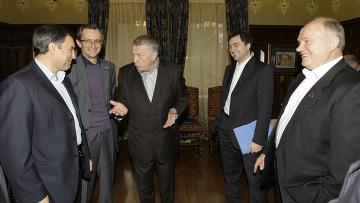 Д.Медведев встретился с лидерами парламентских фракций