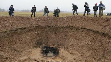 В Латвии упал метеорит