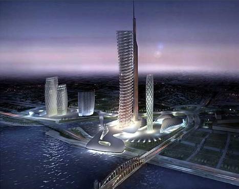 А вот Петербург будущего.  Проект Газпрома в Питере.
