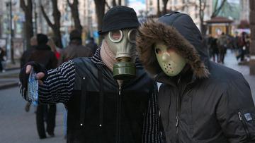 """Киевляне принимают меры для защиты от вируса """"свиного гриппа"""""""