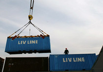 Погрузка контейнеров