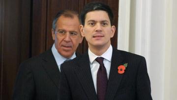 Встреча С.Лаврова и Д.Милибэнда в Москве