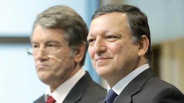 Пресс-конференция главы Еврокомиссии и президента Украины