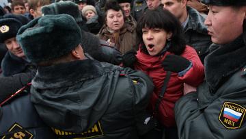 """Сотрудники милиции задержали активистов движения """"Левый фронт"""""""
