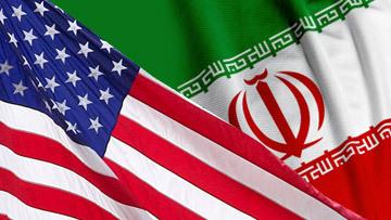сша иран флаги