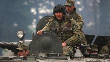 В военной части Мухровани ВС Грузии произошел мятеж