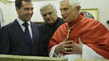 Д.Медведев и Папа Римский Бенедикт XVI