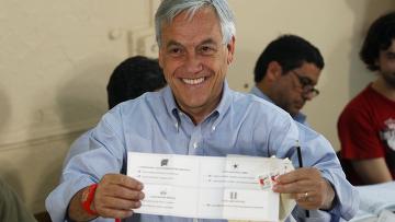 Себастьян Пиньера победил в первом туре выборов в Чили