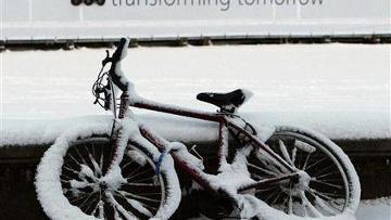 На Европу обрушился снегопад