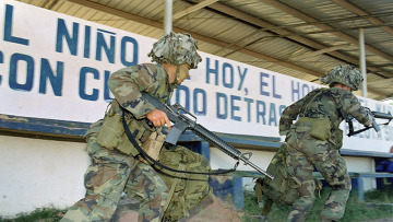 Солдаты США в Панаме