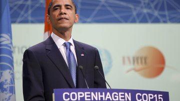 Барак Обама выступает на Рамочной конвенции ООН по изменению климата