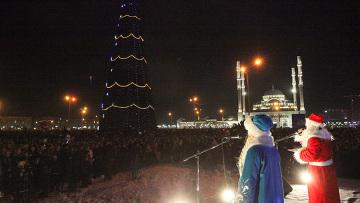 Встреча Нового года в Грозном
