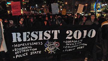 Антиолимпийская демонстрация в Британской Колумбии, Канада