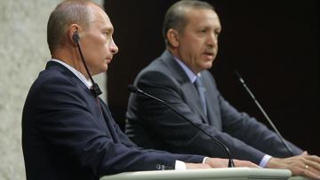 Пресс-конференция В. Путина и Р. Эрдогана