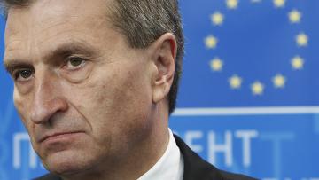 кандидат на должность комиссара Европейского союза по энергетике немец Гюнтер Эттингер