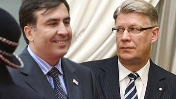 Президент латвийского государства Валдис Затлерс и президент Грузии Михаил Саакашвили