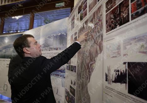 Д.Медведев провел совещание по подготовке олимпийских объектов