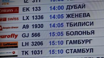 Самолет грузинской авиакомпании приземлился в Москве