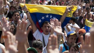Акции протеста в Каракасе, Венесуэла