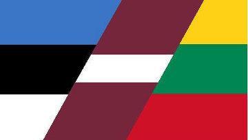 Флаги: Эстония, Латвия, Литва