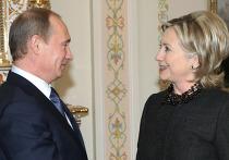 Встреча Владимира Путина с Хиллари Клинтон в Ново-Огарево