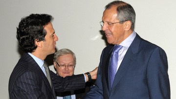 Встреча глав МИД РФ и Колумбии С.Лаврова и Х.Бермудеса