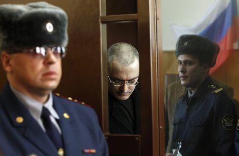 Михаил Ходорковский в Хамовническом суде Москвы