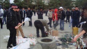 Беспорядки в киргизском городе Таласе