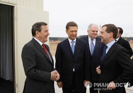 """Церемонии начала строительства газопровода """"Северный поток"""""""