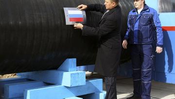 """Председатель правления ОАО """"Газпром"""" Алексей Миллер на церемонии начала строительства газопровода """"Северный поток"""""""