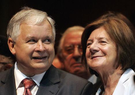 Президент Польши Лех Качиньски с супругой