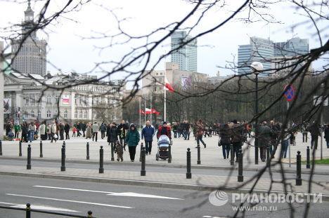 На улицах Варшавы