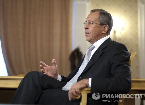 Интервью с министром иностранных дел РФ Сергеем Лавровым