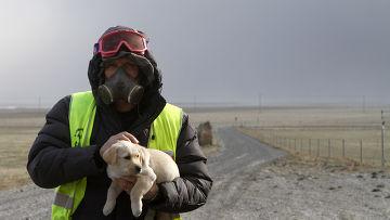 Миллионы тонн вулканического пепла выбрасывает вулкан Эйяфьятлайокудль