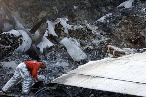 Крушение грузового самолета Ан-12 на Филиппинах