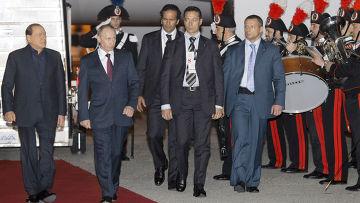 Рабочий визит Владимира Путина в Италию