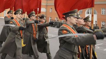 Комплексная тренировка знаменных групп к Параду Победы
