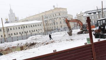 Снос здания на Хитровке